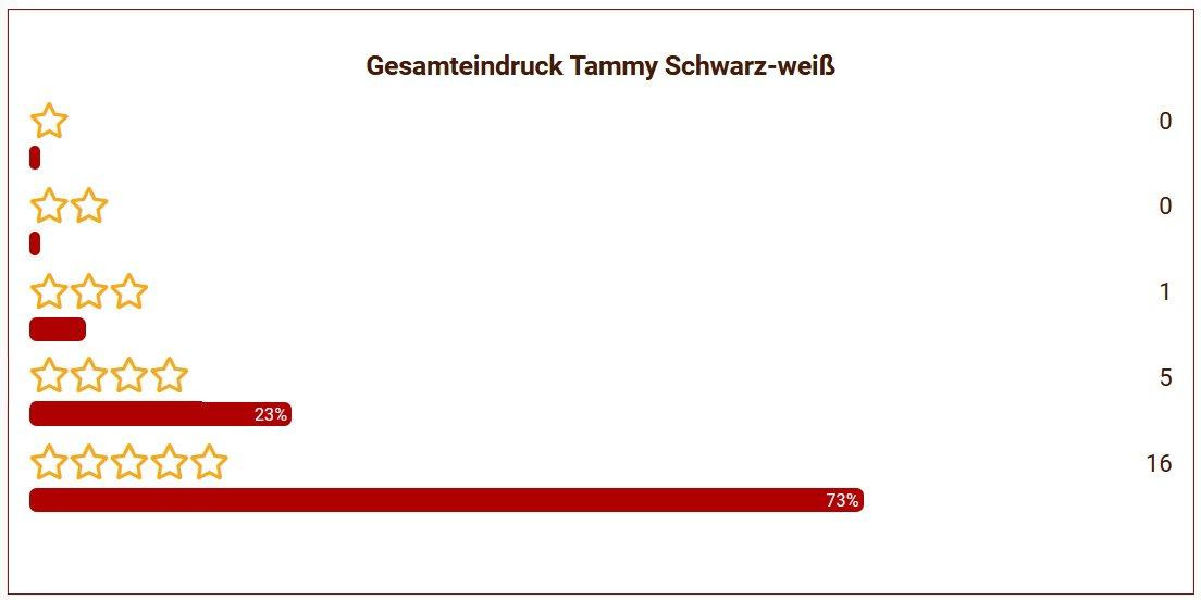 21 Tammy Schwarz Weiß Gesamteindruck