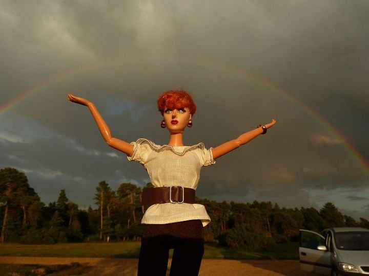 Luzy unter dem magischen Regenbogen