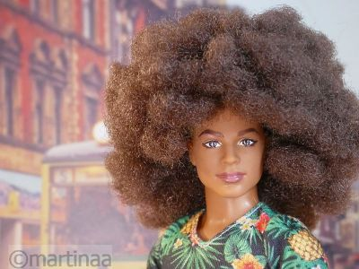 Strubbeliger Afro Look