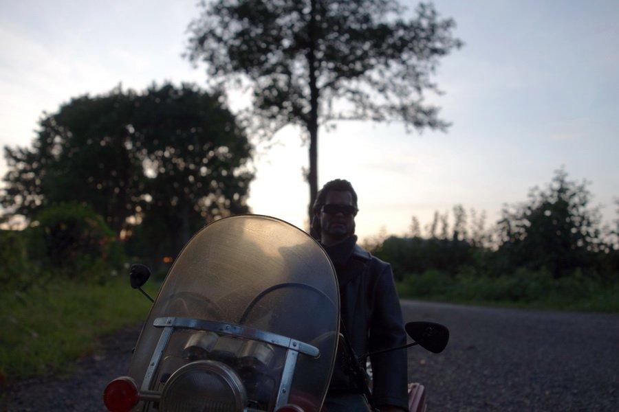 Motorradspiegel Aus Knöpfen 5