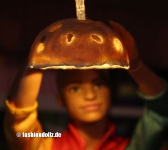 Lampenschirm aus Salzteig