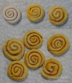 Salzteig Nussschnecken