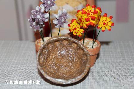 Salzteig - Obstschale und Bluemchen