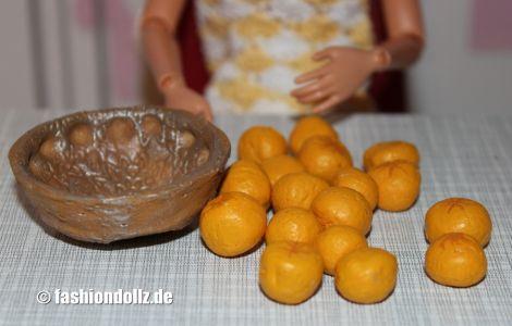 Salzteig - Obstschale und Orangen