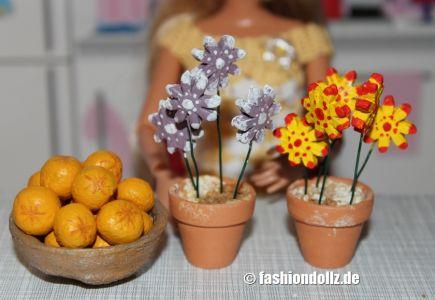 Salzteig Obstschale mit Orangen