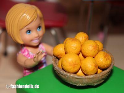 Salzteig Orangen in Obstschale
